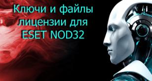 Ключи Eset Nod32 Antivirus 5